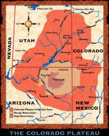 Colorado Plateau Map by Bill Belknap Exhibit Colorado Plateau Map