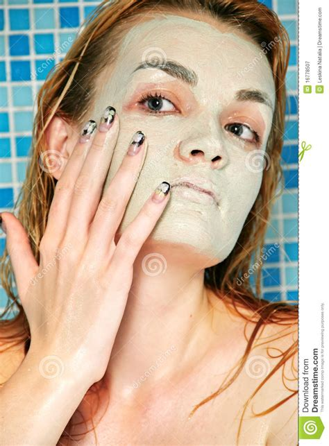 bathroom facials facial mask in shower royalty free stock photography image 16778507