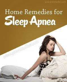 sleep apnea remedies on
