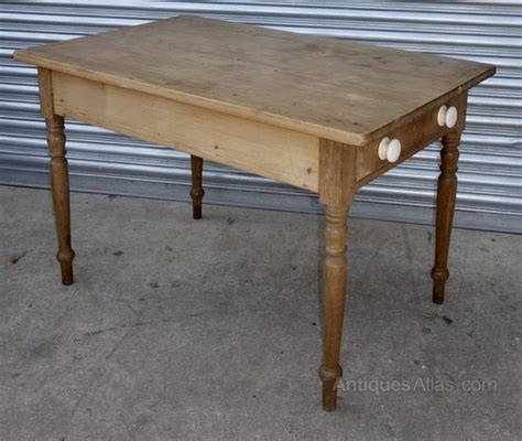 Small Pine Kitchen Table Small Pine Kitchen Table One Drawer Antiques Atlas