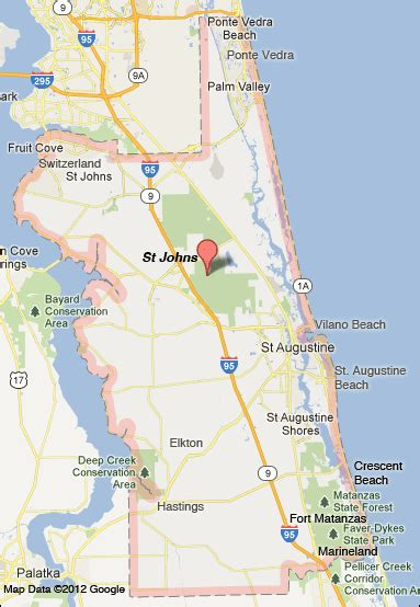 st johns county florida map