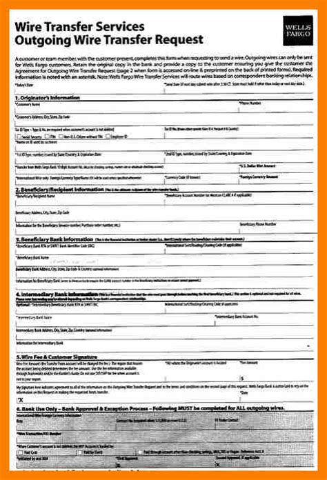 wire transfer form template 11 wire transfer form template hostess resume