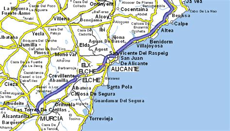 map of alicante area index of maps of spain valencian community