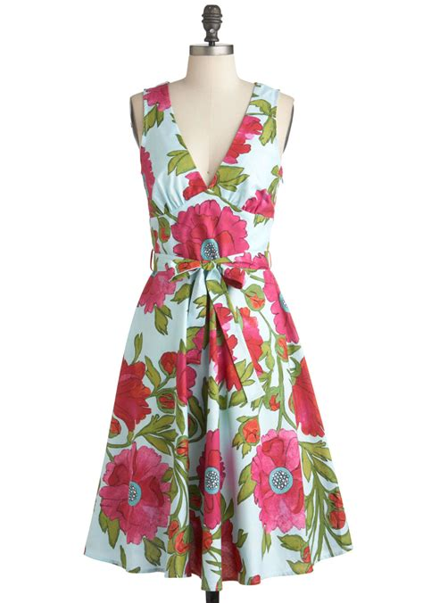 Dress Poppi Green poppy culture dress mod retro vintage dresses modcloth