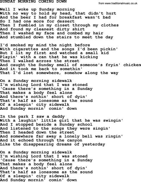 ukulele tutorial sunday morning johnny cash song sunday morning coming down lyrics