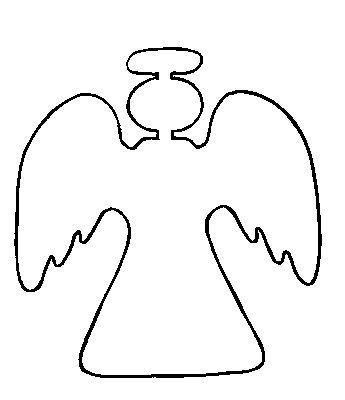 printable angel template angel outlines clipart best