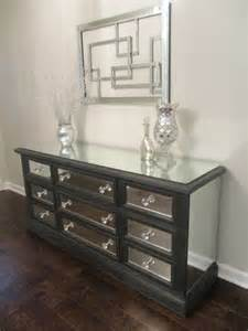 Console Mirror And Table Set - mirrored dresser graphite with trim classic 9 drawer mirror