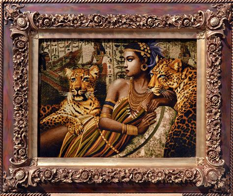 cleopatra rug cleopatra tigers silk tableau rug pictorial carpet item fc2