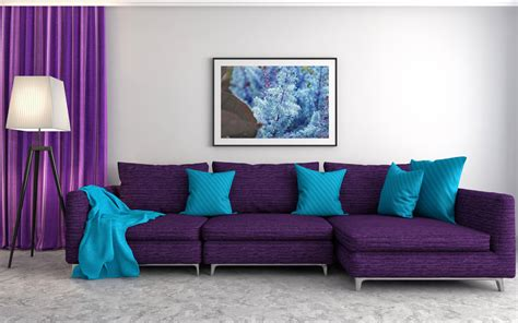 colors that go well with purple for interior design in 2019