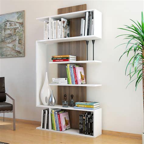 librerie per soggiorno beryl libreria da soggiorno moderna bianco noce 90 x 170 cm