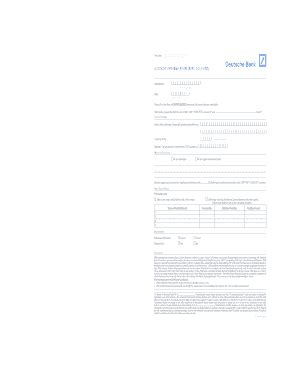 deutsche bank blocked account for students deutsche bank filled application fill printable