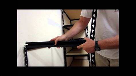 assemble edsel steel shelving edsal racks youtube
