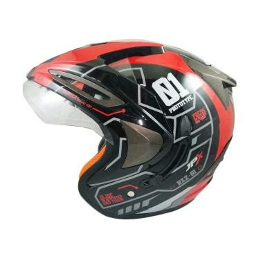 Helm Jpx Supreme Visor R2x Black Glossy jual jpx supreme r2x helm half black harga kualitas terjamin blibli