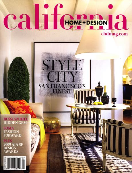 four square drawing on cover of california home and design