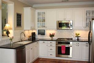 Kitchen Subway Tile Backsplash Dress Your Kitchen In Style With Some White Subway Tiles