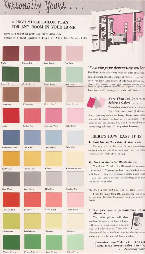vintage color palettes on pinterest 1950s chips and retro vintage goodness happiness a blog for all the