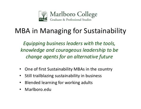 Marlboro College Mba leveraging employee engagement for sustainability success