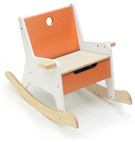 modern toddler furniture offi rockabye storage rocker in orange modern