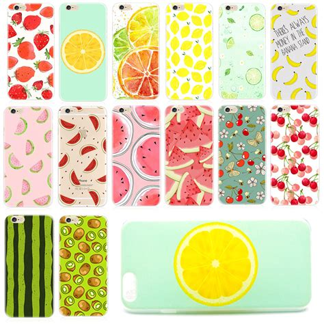 Soft Cool Fruit Lemon Orange For Iphone 6 6s T0310 popular strawberry covers buy cheap strawberry covers lots from china strawberry covers
