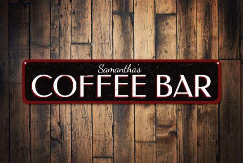 Custom Kitchen Signs by Coffee Bar Sign Custom Kitchen Sign Coffee Addict Sign Gift