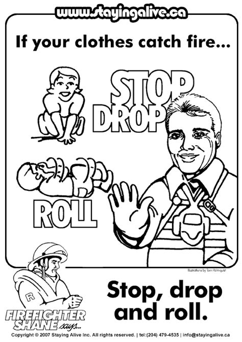 free coloring pages of stop drop roll