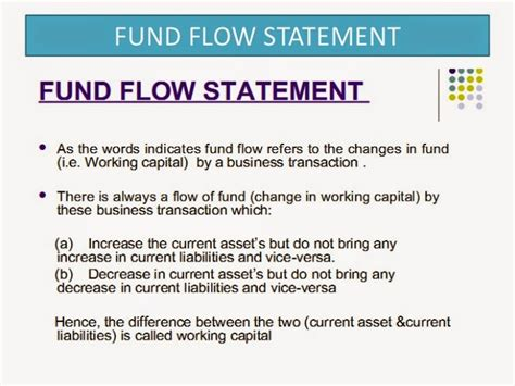 objectives of fund flow statement what is funds flow statement objective and importance of