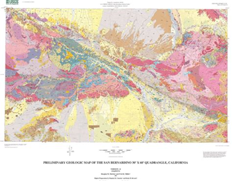 geologic map san jose quadrangle preliminary geologic map of the san bernardino 30 x 60