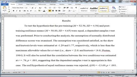 results section of research paper sle results section of apa research paper