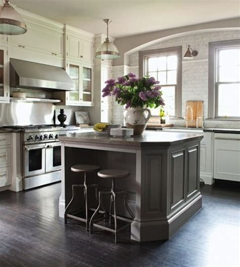 gray kitchen island pin by hirsch on kitchen