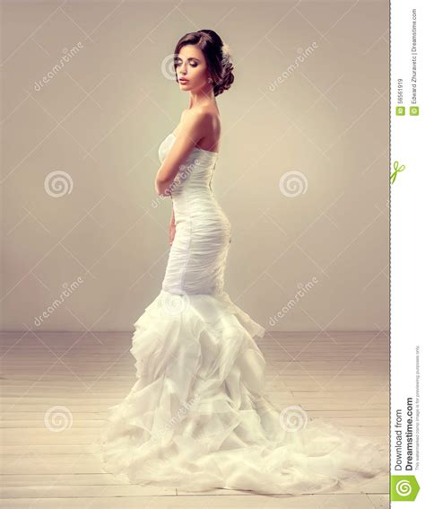 beautiful model with elegant hairstyle stock photo beautiful bride model brunette stock image image 56561919