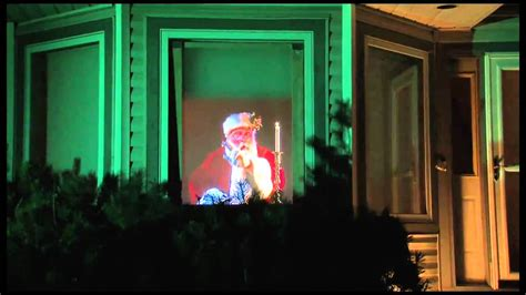 animated holographic santa light sculpture santa claus window projection dvd