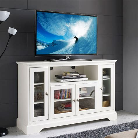 media cabinet for 55 tv walker edison 55 inch highboy tv cabinet white w52c32wh