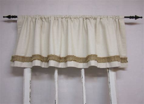 colored burlap curtains items similar to burlap curtains valance window valence