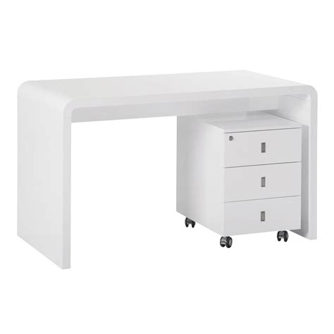 white office desk with drawers hudson desk with drawers white dwell