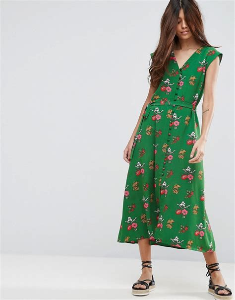 Dress Green Tea 1930s day dresses afternoon dresses history