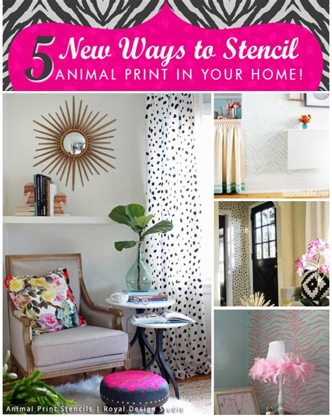 24 ways to go wild with animal print decor brit co 5 new ways to stencil animal print in your home paint