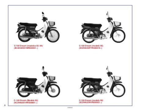 Spare Part Motor Honda Ex5 honda ex5 100 spare part catalog manual