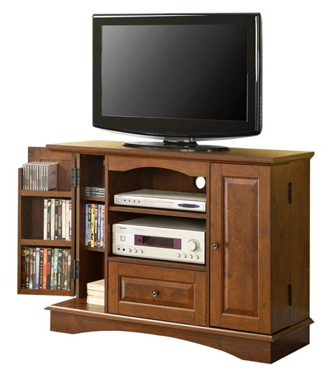 tv stands 42 inch wood tv stand with media storage in tv stands