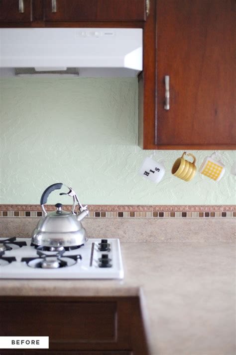 how to put up backsplash in kitchen how to make an inexpensive plank backsplash a beautiful mess