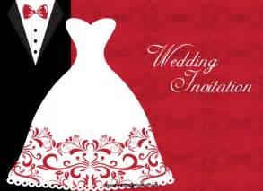 wedding invitation with elegant bride dress and wedding