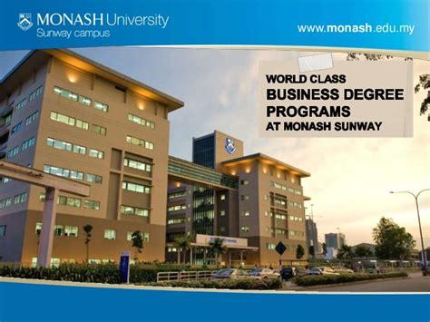 Monash Malaysia Mba Fees by School Of Business Monash Sunway Cus