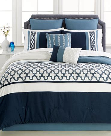 verona blue 8 pc comforter set bed in a bag bed