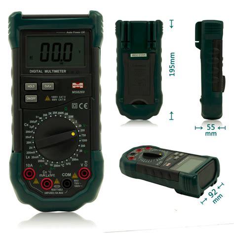 inductor testing with multimeter mastech ms8269 3 1 2 digital multimeter lcr meter ac dc voltage current tester inductance