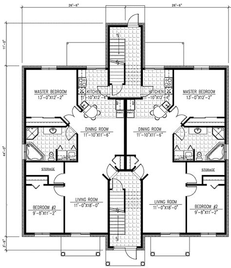 6 plex floor plans six plex multi family house plan 90153pd architectural