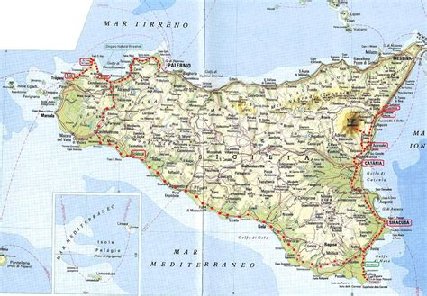 sicily on map discovering sicily from catania to palermo meczek