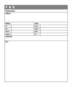 fax template printable 12 free fax cover sheet templates free sle exle