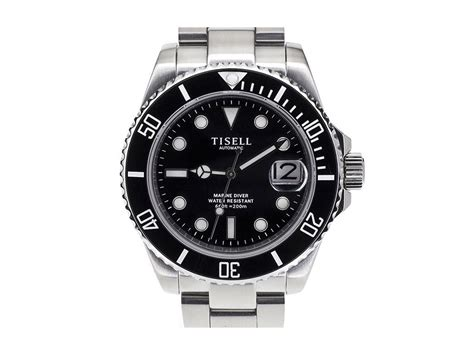 Black Bouverie 40 Mm Watches tisell sub automatic diver black 40 mm