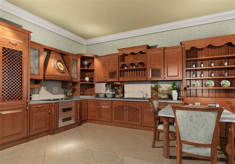 Wooden Furniture For Kitchen Modern Solid Wood Kitchen Cabiets Designs Photos An