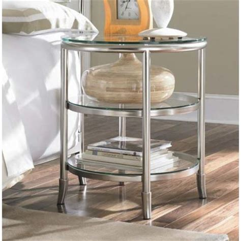Glass Top For Nightstand american drew 104 nightstand glass top essex metal nightstand and glass top in mink