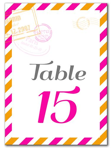 Perfectly Pretty Postage by Table Numbers Perfectly Invited